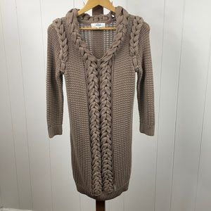Tibi Brown Chunky Knit Sweater Dress